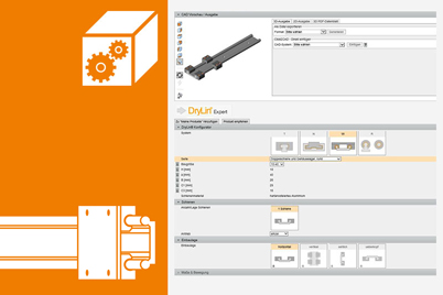 CAD configurator for linear systems